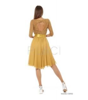 Vestido blonda chinilla...